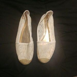 Jennifer Lopez white espadrilles
